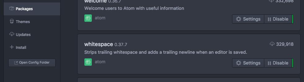 Atomパッケージのwhitespace